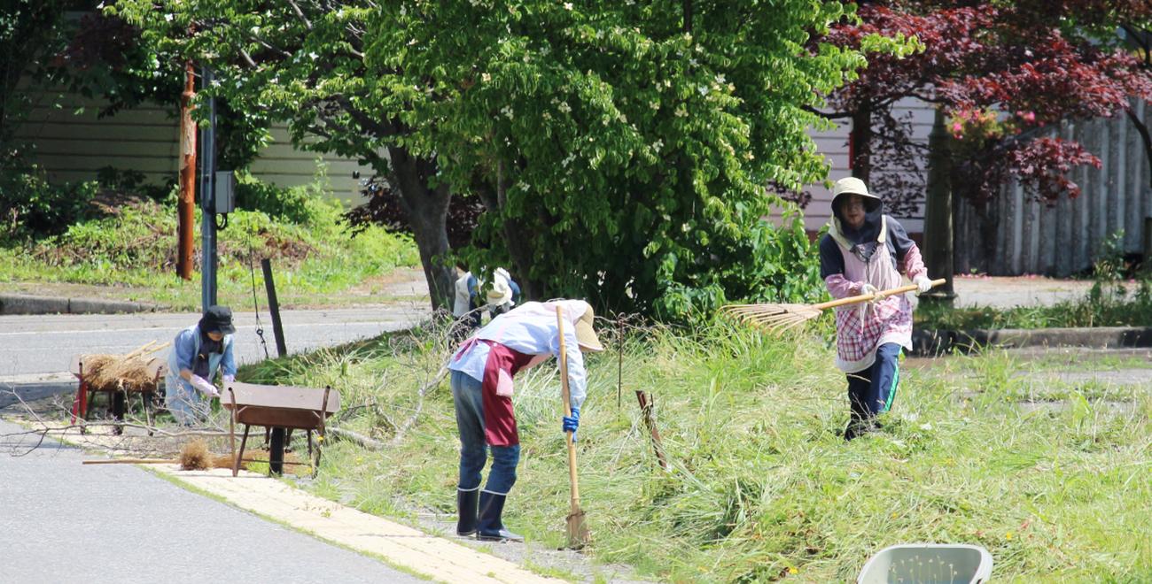 黒川商工会女性部ボランティア活動